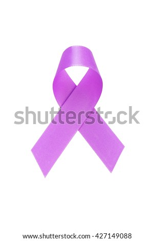 Purple ribbon. Colon cancer awareness. healthcare and medicine concept.