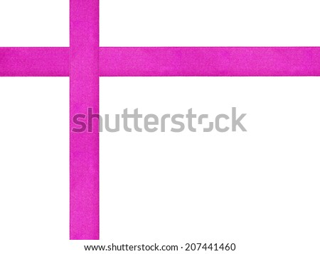 purple ribbon cross template isolated, just put bow on it - stock photo