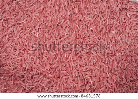 purple rice background, Thailand rice - stock photo