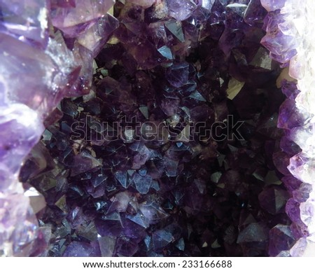 purple  rock crystal                           - stock photo