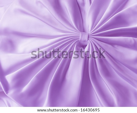 Purple satin bow tie for texture abstract background