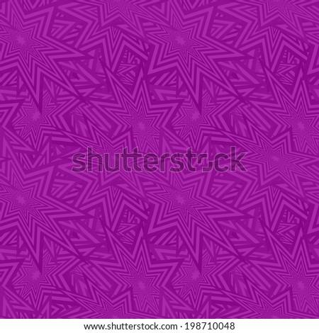 Purple seamless star pattern background - jpg version - stock photo
