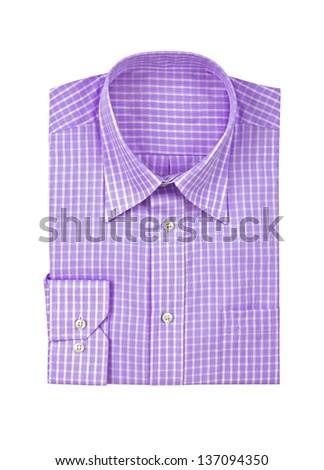 purple shirt isolated on white background - stock photo