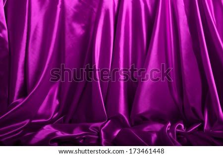Purple silk background - stock photo
