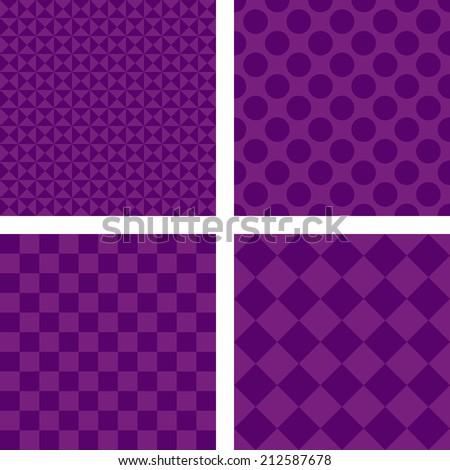 Purple simple wallpaper set - jpeg version - stock photo