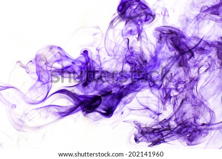 Purple smoke background - stock photo