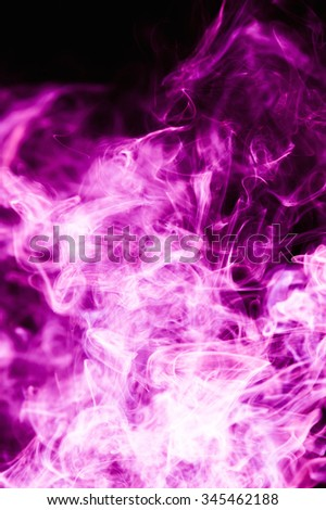 Purple smoke on a black background.