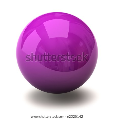 Purple sphere - stock photo