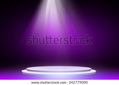 Purple stage light background  - stock photo