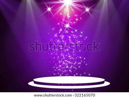 Purple stage light background - stock photo