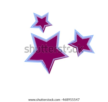 Purple stars three ellementa