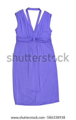 purple summer women dress. fashion dress isolated on white.
