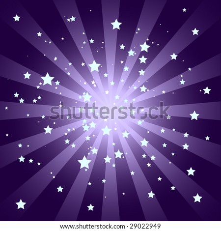 Purple Sunburst Pattern with Stars