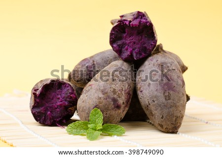 Purple sweet potatoes,healthy food