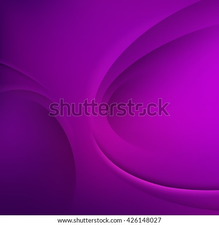 Purple Template Abstract background with curves lines and shadow.
