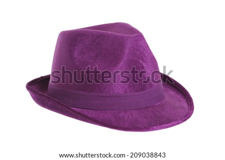 Purple Top Hat isolated against white