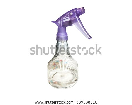 Purple water sprayer use for Iron and watering,Isolate on white Background