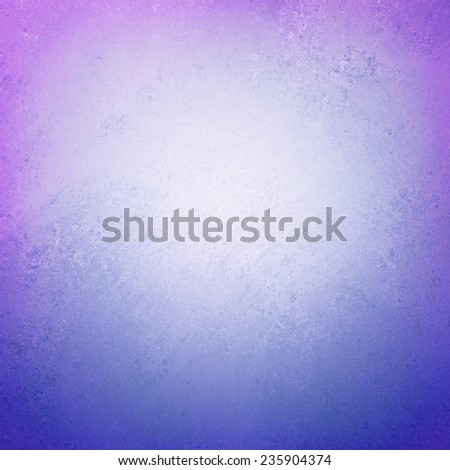 purple white and blue background with faded soft white center and colorful border, pretty colorful background - stock photo