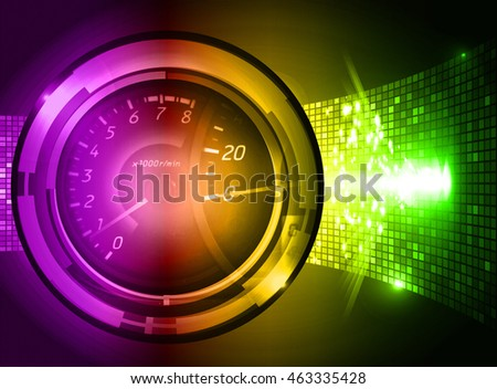 purple yellow green illustration of technology internet network computer background with binary number, style. infographics. Information. motion blur. pixel. Binary digit. number. Odometer,clock,watch