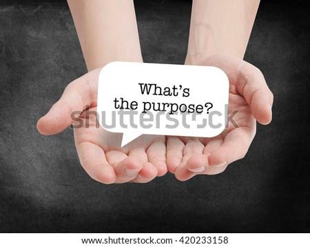 Purpose written on a speechbubble - stock photo