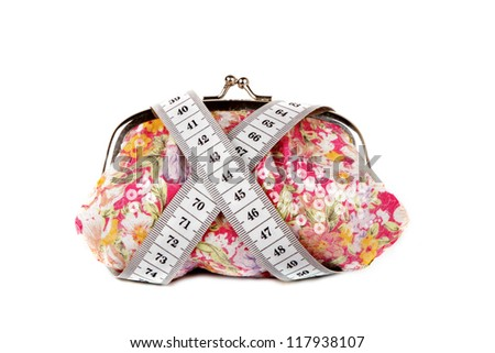 purse and meter isolated over white background