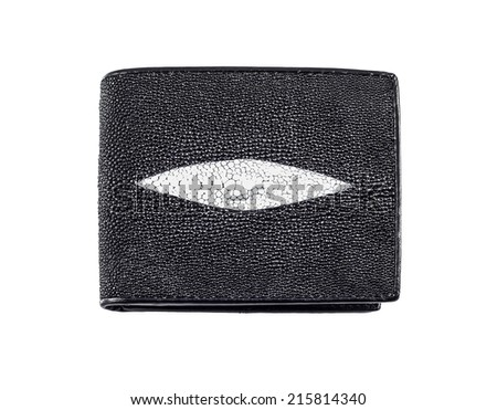 purse money made of stingray leather isolated on a white background