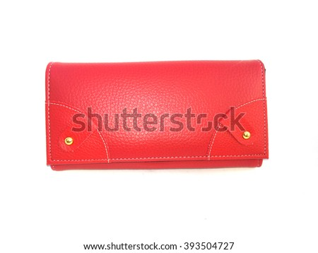 purse red on isolated