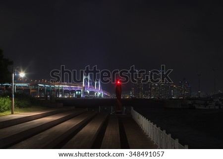 Pusan city and  bridge