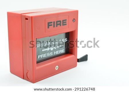 Push button alarm fire. - stock photo