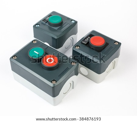 Push button station. Start stop electronic control. Assembled Stations. Various types.