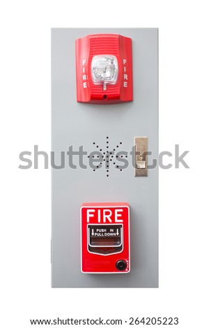 Push button switch fire alarm isolate