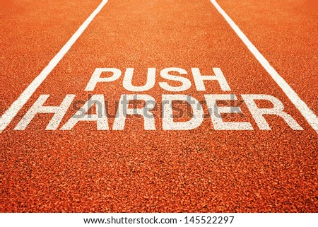 Push harder on athletics all weather running track