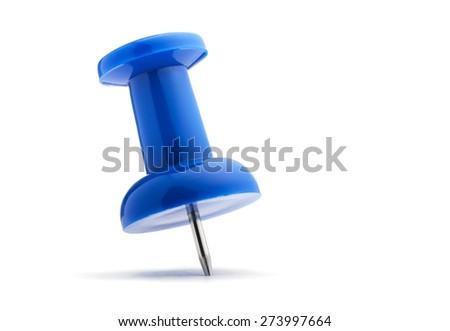 Push Pin isolated on white - stock photo