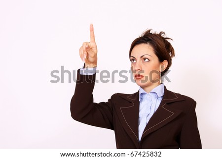 Push the button - stock photo