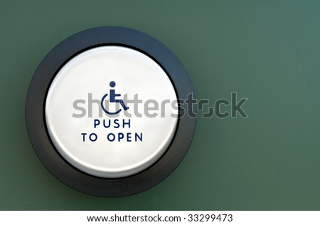 Push to Open - stock photo