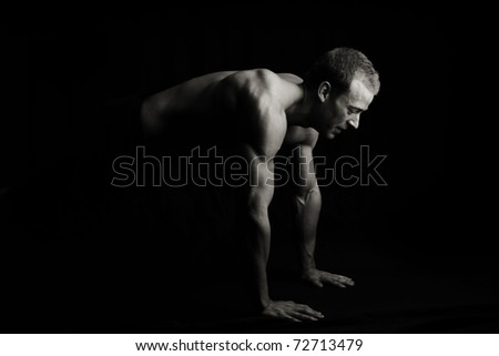 Push ups - stock photo