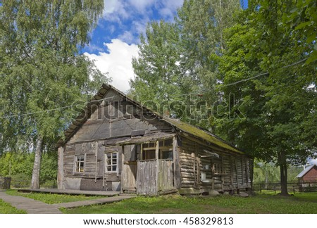 PUSHKINOGORSKY DISTRICT, RUSSIA - JULY 22, 2016: Museum of Sergei Dovlatov in Beresino viilage