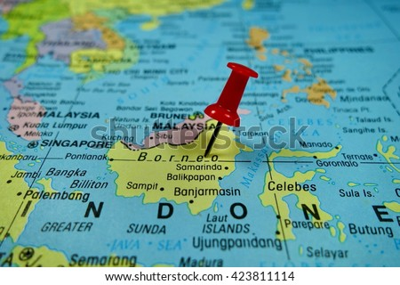Borneo Map Stock Royalty Free & Vectors