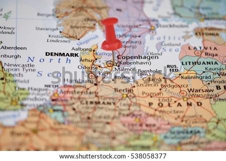 Denmark Map Stock Images RoyaltyFree Images Vectors Shutterstock - Denmark map