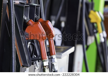 put in gasoline - stock photo