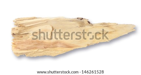 Put together a dry stick isolated on white background