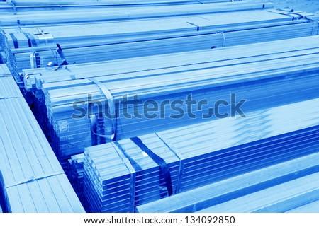 Put together the rectangular tube - stock photo