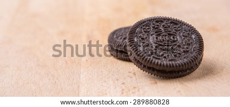 PUTRAJAYA MALAYSIA  JUNE 23RD 2015. Oreo is a sandwich cookie with a sweet cream filling by Nabisco Division of Mondelez International and is the best selling cookie in the United States.