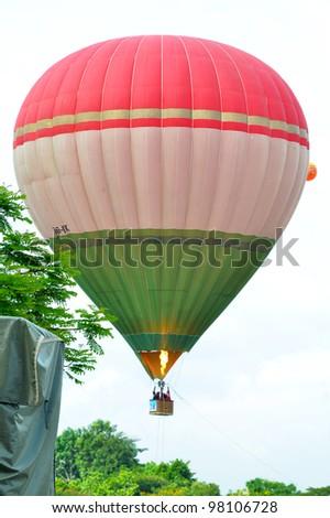 PUTRAJAYA, MALAYSIA-MAR 17:View of balloon at the 4th Putrajaya International Hot Air Balloon Fiesta on Mar 17, 2012 Putrajaya. The event held in Precinct 2, Putrajaya, Malaysia. - stock photo