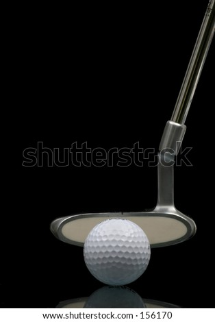 Putt for dough - stock photo