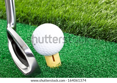 putting focus on hole - stock photo
