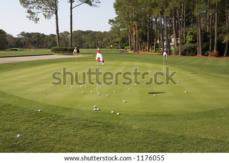 Putting green of golf course