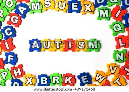 Puzzle autism on white background