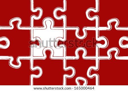 puzzle background - stock photo