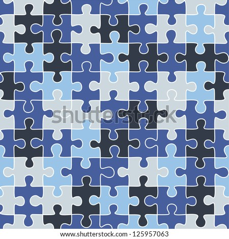 Puzzle camouflage seamless pattern. Raster version, vector file available in portfolio.